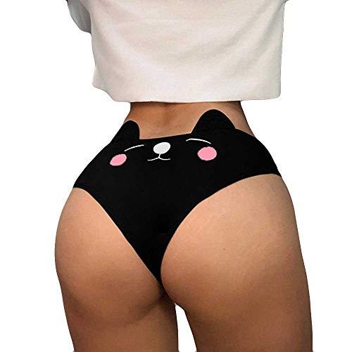 Dasongff Damen Unterwäsche Panty Baumwolle Slip High Waist Taillenslip Stretch Unterhosen Hipster Bequeme Unterkleidung Weich Einfache Bequeme Panties Tangas Unterhose Damenslip