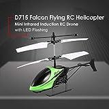 Footprintse Mini RC Airplane Elicottero infrarosso induzione USB Telecomando Helikopter-colore: verde