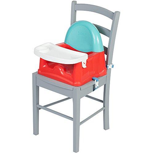Safety 1st zitverhogers voor op reis, onderweg en voor thuis, het alternatief voor de hoge stoel Met tafel. rood (red lines)