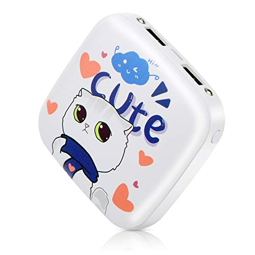 Cute Portable Charger,Sethruki 10000mAh Power Bank Kawaii Cat Fast Charging USB Gift Kid Cell Phone External Battery Pack Compatible with iPhone,iPad,AirPods,Samsung,Android Phone,etc.