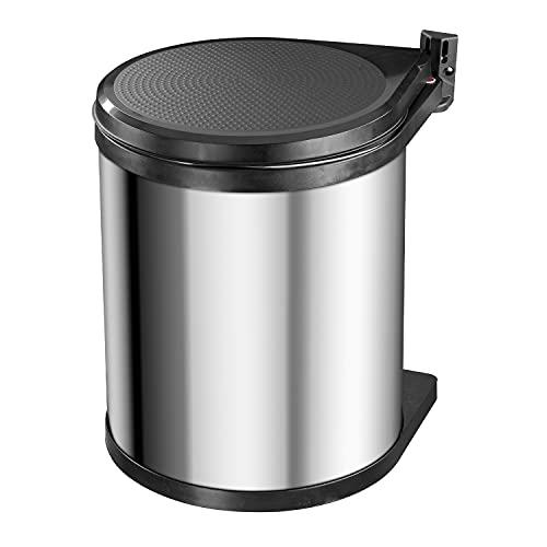 Hailo Compact-Box M Einbau Mülleimer | 1 x 15 Liter | Einbaumülleimer mit Deckel-Lift-System | für Schranktüren ab 40cm Breite | Edelstahl | Einbau Küchenmülleimer | Made in Germany