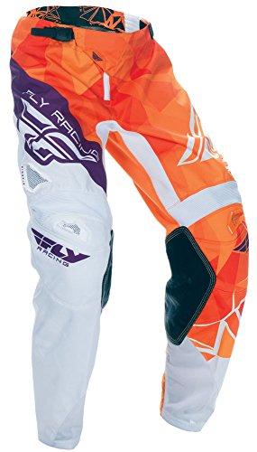 Fly Racing Kinetic Motocross Hose Kids Crux, orange-Burgund, Größe: 24, MX Kinder Pant MTB Mountainbike BMX