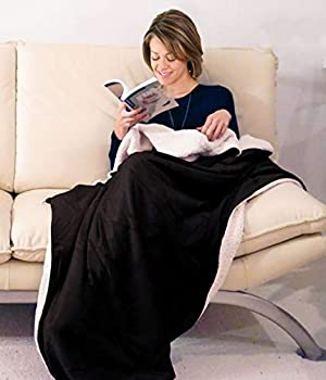 Napa Super-Soft Cozy Sherpa Throw Blanket
