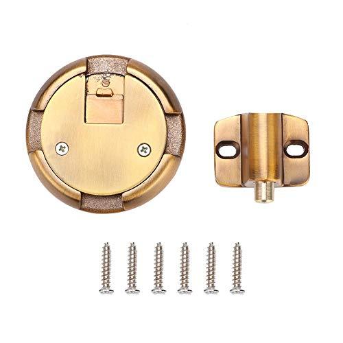 Gaeirt Tope de Puerta no magnético, Tope de Puerta Tope de Soporte de Puerta Cilindro sólido Material de aleación de Zinc para la posición Correspondiente en la Puerta