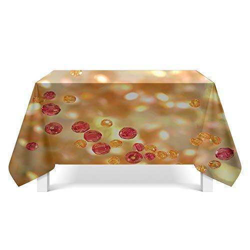 Tafelkleed Verjaardagsfeestje Kristal Geweven Stof Eettafel Tafelkleed (Rechthoekig, Polyester, 60X84 voet)