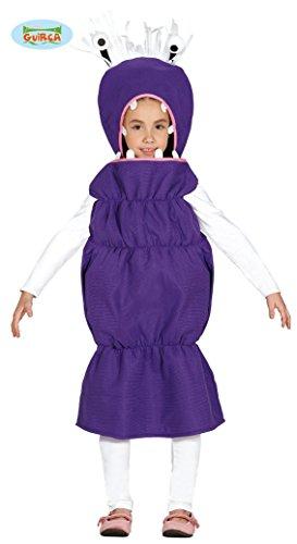 Wurm Monster Halloween Kostüm für Kinder Tier Kinderkostüm Tierkostüm Halloweenkostüm lila Gr. 98 - 116, Größe:110/116