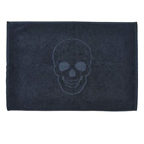 DONE Badvorleger Style-Bathmats Skull 100{248ed58ff89c2099264567a9e29769dbbd1f38ada9b49e0fc60904bd8a1f2811} Baumwolle - Frottee Badteppich Badematte 50 x 70 cm - Totenkopf Motiv, Farbe:Black 4203