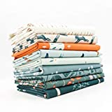 Campsite Fat Quarter Bundle (9 pcs) by Art Gallery Designs for Art Gallery 18 x 21 inches (45.72cm x 53.34cm) Fabric cuts DIY Quilt Fabric