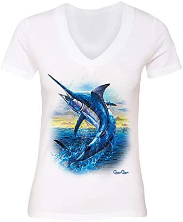 tank top Blue Marlin out of water Fishing T-Shirt short and long sleeve