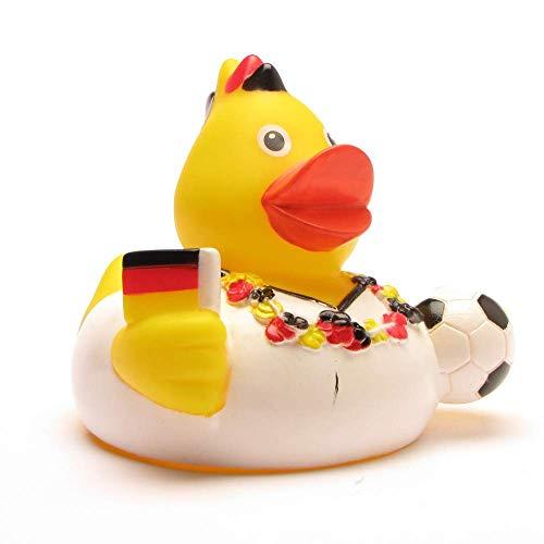 DUCKSHOP I Badeente Deutschland Fan I Quietscheente I L: 7,5 cm - inkl. Badeenten-Schlüsselanhänge im Set