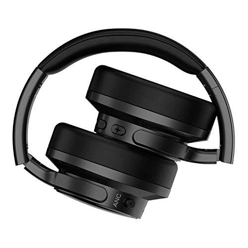 MixcderE9ノイズキャンセリングBluetoothヘッドホン密閉型高音質ケーブル着脱式30時間再生マイク付きハンズフリー通話可能PC/スマートホン/TVなどに対応ワイヤレスヘッドセットブラック