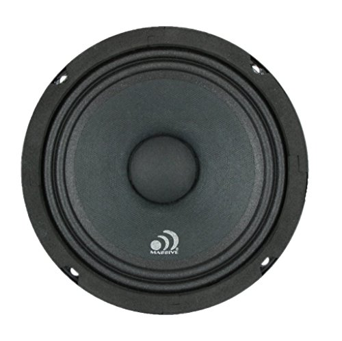 Massive Audio MB6 MB Series. 6.5 Inch, 350 Watts, 8 Ohm Pro Audio Midrange/Midbass Speaker for Cars, Stage and DJ Applications. Sold Individually.
