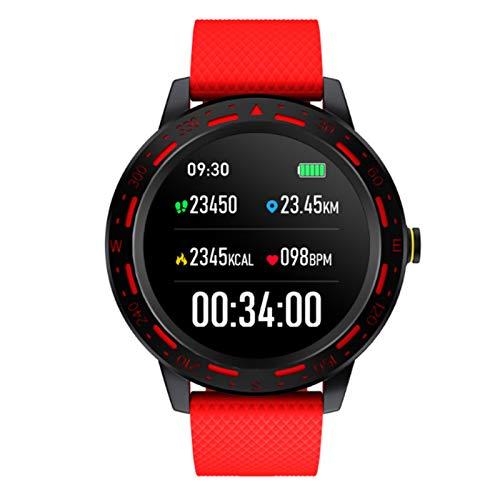 Wsaman Reloj Fitness Inteligente Fitness Tracker Deportivo Tracker Smartwatch Pulsera Actividad con Pulsómetro Cardíaco y Sueño, con Pantalla Táctil para Android/iOS/Mujer/Hombre,Rojo
