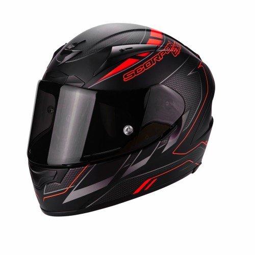 Scorpion Casco Moto EXO-2000 EVO AIR Cup, Black/Chameleon/Fluo Red, XL