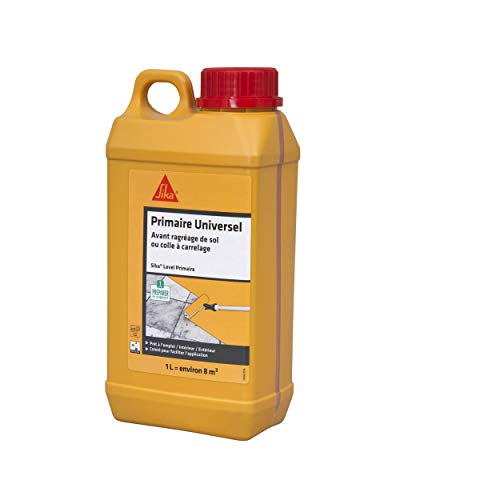 Sika Level Primaire, Primaire dadhérence pour supports difficiles, 1L, Rouge