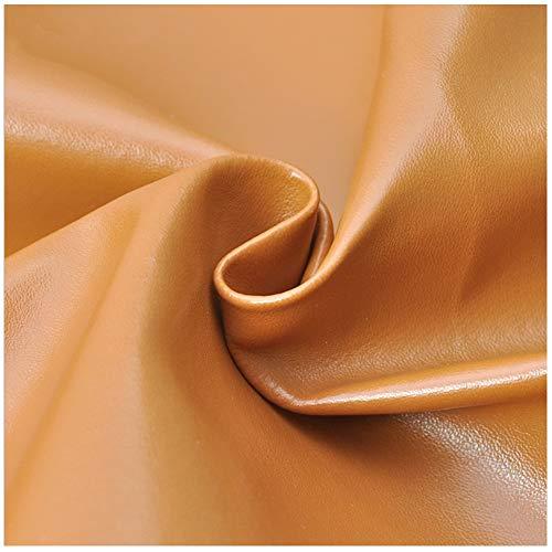 Polipiel PU Tela de imitación Cuero de PU Cuero Artificial Tejido de Cuero Artificial Tejido de Cuero Sintético DIY Bolsa Sofá Decoración Material de Costura-marrón Amarillo