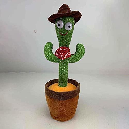 LHZMD Cactus Plush Toys Electronic Shake Dancing Cactus Plush Cute Dancing Cactus Singing And Dancing Cactus Funny Early Childhood Education Toys,B