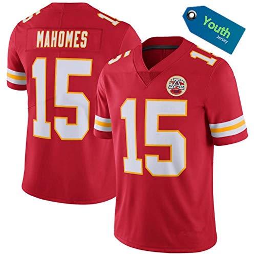 YISUDA NFL Trikot Youth Chiefs 15# Mahomes 87# 10# Fußballtrikot Kurzarm Sport Top T-Shirt,red-15,XL
