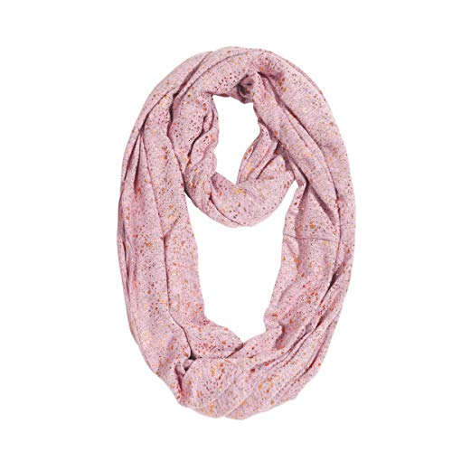 Achiou Premium Infinity Scarves 2019 Novelty Travel Scarf for Women Men Couple with Hidden Pocket Winter Warm Soft Multipurpose (Pink & Glod, 35.4 x 13.7 Inch)