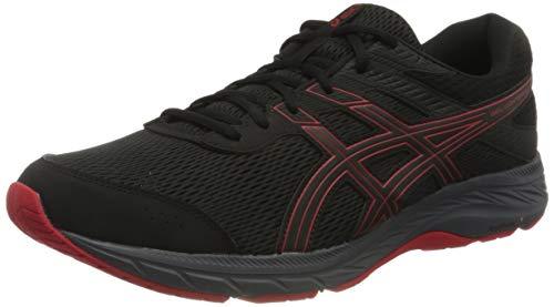 ASICS Men's Gel-Contend 6 Running Shoe, Black/Classic Red, 7 UK