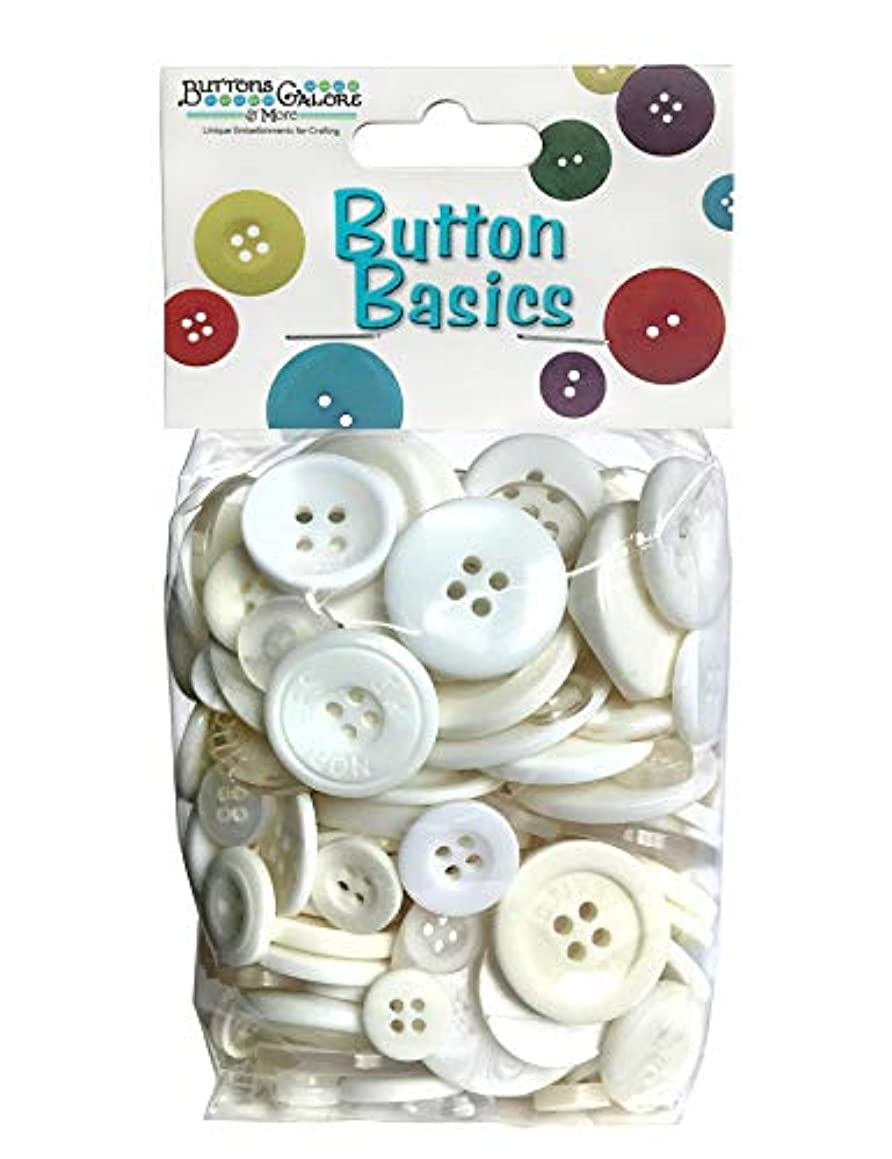 Buttons Galore Hand Dyed Buttons, 5.5-Ounce, Wild White