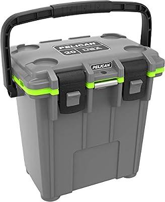 Pelican Elite 20 Quart Cooler (Dark Grey/Green)