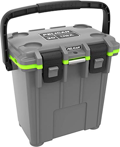 Pelican Elite 20 Quart Cooler (Dark Gray/Green)