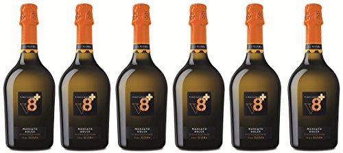 Sior Gildo Vino Spumante Moscato Aromatico Dolce V8+ Spumanti Vineyards 6 X 75 cl. Italienischer Sekt