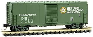 Micro-Trains MTL N-Scale 40ft SD Box Car British Columbia/BC Rail/BCOL #4049