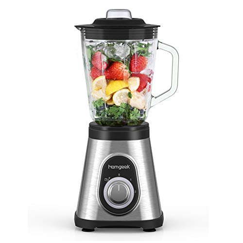 homgeek Blender with Glass Pitcher 48 oz