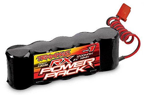 Traxxas Revo 3.3 3036 NiMH 1200mAh 6V 5-C RX Power Pack Battery (Black)