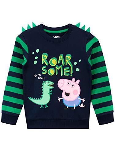 Peppa Wutz Jungen George Pig Sweatshirt Blau 110