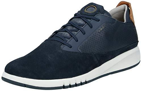 Geox Aerantis Herren-Sneaker, Blau (Marineblaues Glattleder), 41 EU