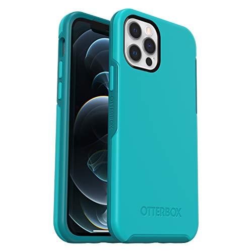 OtterBox Symmetry - elegante und schlanke sturzsichere Schutzhülle für Apple iPhone 12 / 12 Pro, blau