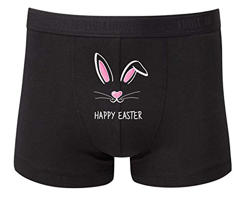Druckerlebnis24 Boxershort - Hasenohren Oster Hase Kaninchen - Unterhose für Herren und Männer
