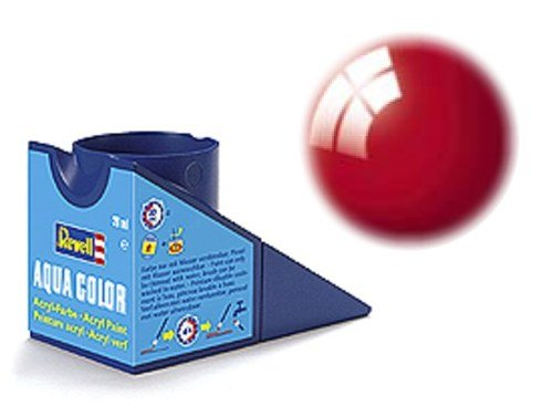 Revell 36134 Aqua Color - Pintura acrílica Brillante (18 ml), Color Rojo Ferrari