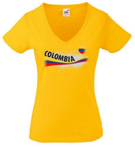 Fruit of the Loom Kolumbien Damen T-Shirt Columbia Vintage Shirt|L