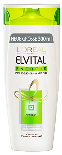 L'Oréal Paris Elvital Shampoo Energie, 3er Pack (3 x 300 ml)