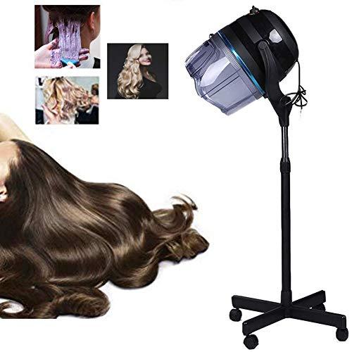 ZNXY 1050W Standing Sèche Cheveux Chauffants Professionnel Cheveux Couleur Processeur Accélérateur Assiette Chauffe-Eau Salon Coiffeur Ajustable Capuche avec Roues