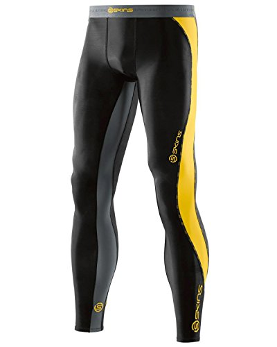 Skins DNAmic Long, Pantalone Uomo, Nero/Citron, M