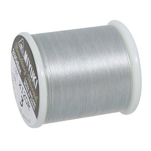 Rayher 89300606 Fil pour perle rocaille, fil miyuki 0,27mm ø bobine 50m, argenté