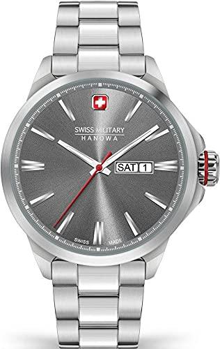 Swiss Military Hanowa Herren-Uhren Analog Quarz One Size Grau 32017668