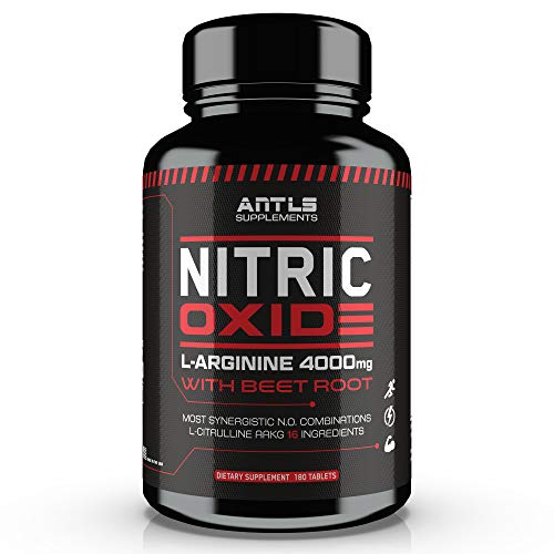 Nitric Oxide Supplement Booster Complex L Arginine 4000mg,L Citrulline, AAKG,Beet Root,Pre Workout Supplement,Muscle Bulider,Growth,Pumps,Blood Flow,Vascularity,Heart Health,180 Capsules