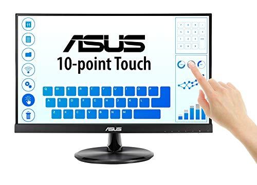 ASUS VT229H Monitor Táctil de 21,5', FHD (1920x1080), Pantalla táctil de 10 Puntos, IPS, Ángulos de visión de 178°, Sin Marco, Antiparpadeo, Luz Azul de Baja Intensidad, HDMI, dureza 7H