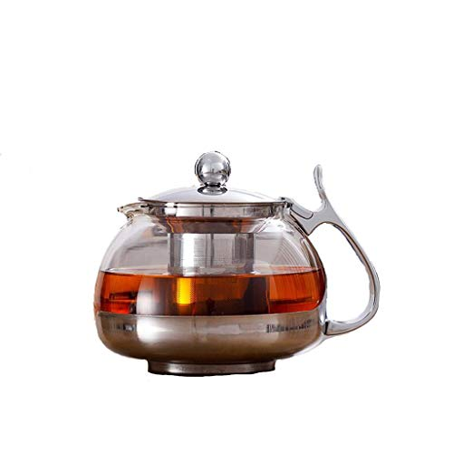 Yafeng glass teapot heat-resistant high temperature Tai Chi pot removable and washable stainless steel filter teapot glass tea set CHAJU (Size : 700ml)