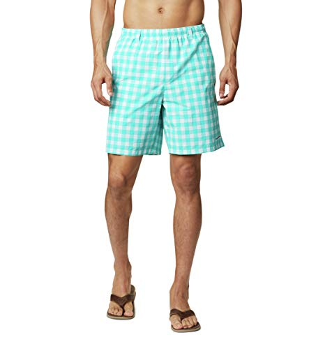 Columbia Pantalones Cortos de Agua Super Backcast para Hombre, Hombre, 1715381, Bright Aqua Palaka Plaid, Medium x 8