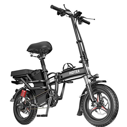 Folding Electric Bike 350W City Commuter Ebike 14 Inch Electric Bicycle with LCD Display Suitable for Adults and Teenagers ?10A Battery with Remote Key?Upgraded Version B?