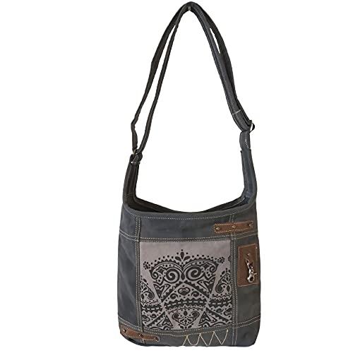 Sunsa Damen Hobo Tasche Umhängetasche, Handtasche aus Canvas & Leder. Nachhaltige Produkte, Groß Vintage Shoulder bag, Schultertasche, Segeltuch Crossbody, Geschenkideen für Frauen/Mädchen