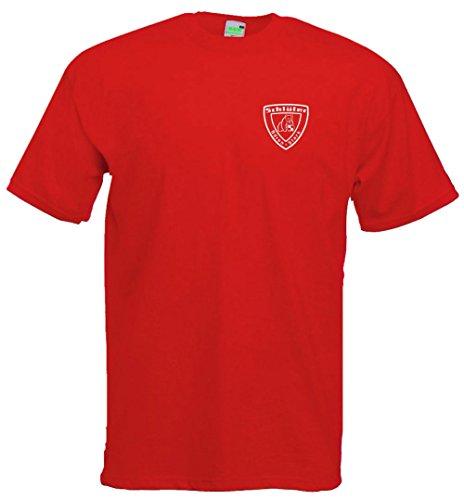 Schlüter T-Shirt | rot | Kleiner Brustdruck | Größe L