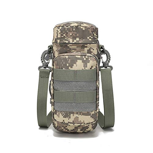 Sirius Survival Tactical MOLLE Water Bottle Holder - Military Style Water Pouch Attachment for Tactical Carry Bags (Digital Camo)